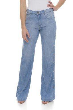111906 Calça Jeans Feminina Pantalona (Frente)