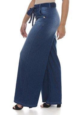 111908 Calça Jeans Feminina Pantalona (Lateral)