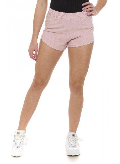 44611907 Shorts Moletom com Elástico na Cintura Rose (Frente1)