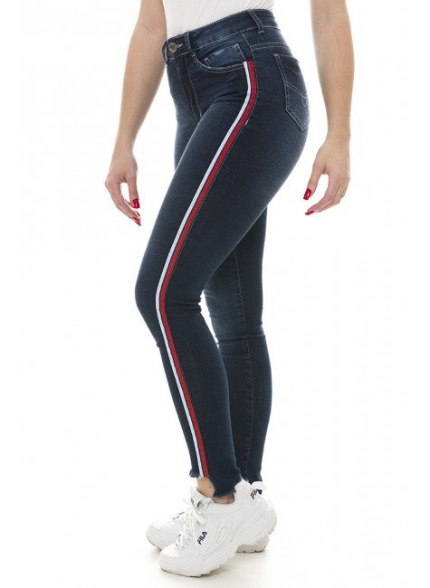 211910 Calça Jeans Feminina Skinny (Lateral)
