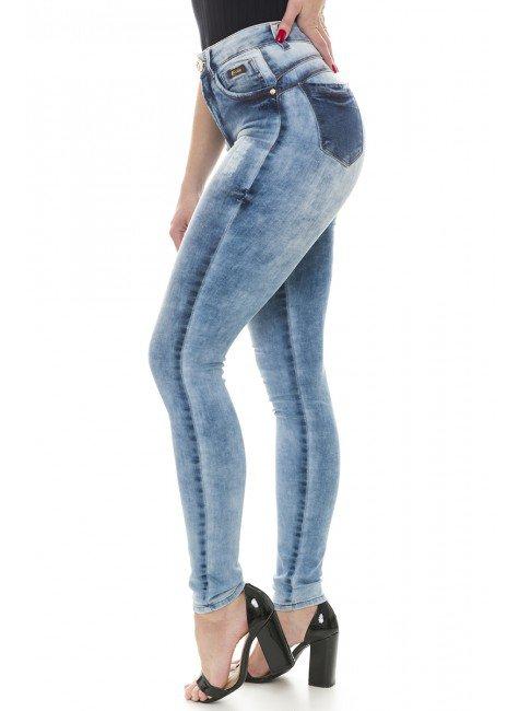 211911 Calça Jeans Feminina Skinny (Lateral)