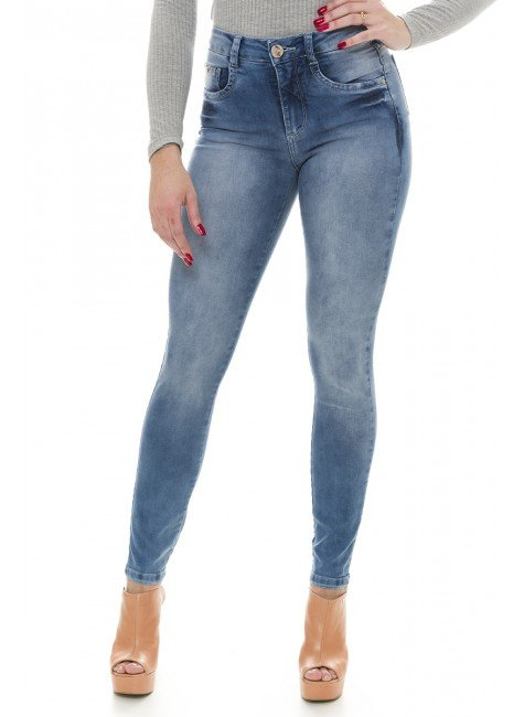 212908 Calça Jeans Feminina Skinny (Frente)