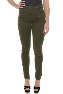 212938  Calça Jeans Skinny Feminina Verde Militar (Frente)