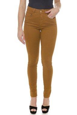 212939 Calça Jeans Skinny Feminina Colors Castanho  (Frente2)