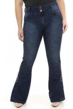 1119AR01 Calça Jeans Feminina Flare Plus Size  (Frente2)