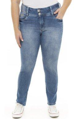 2129AR01 Calça Jeans Feminina Skinny Plus Size  (Frente)