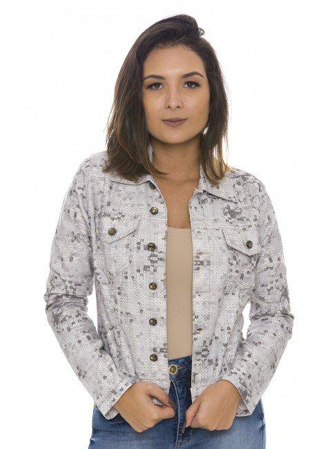 912909 Jaqueta Jeans Feminina Paete (Frente)