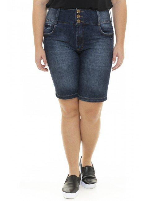 4119AR01 Bermuda Jeans Ciclista Feminina Plus Size  (Frente)