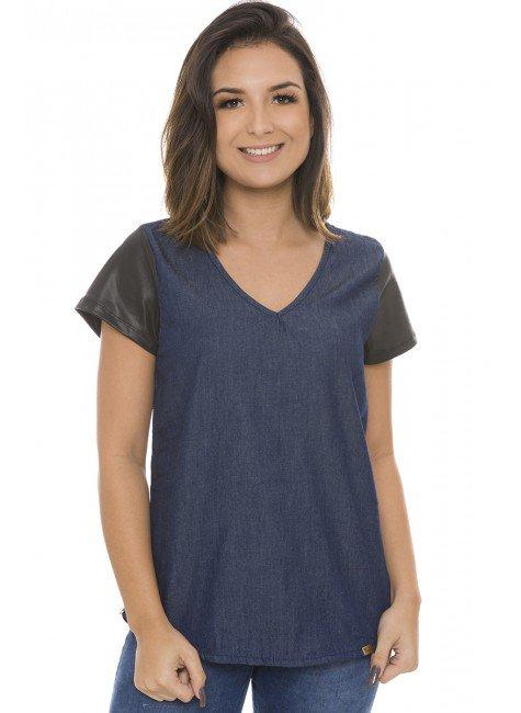 811901 Blusa Jeans com Cadarço (Frente)