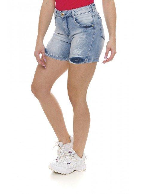 511907 Bermuda Meia Coxa Jeans Feminina (Lateral)