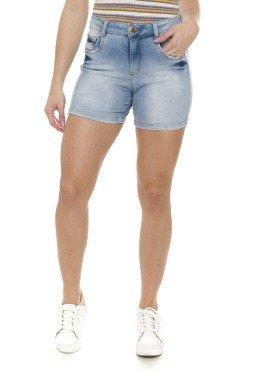 511908 Bermuda Meia Coxa Jeans Feminina (Frente)