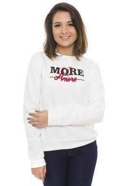44512916 Casaco de Moletom Feminino Amore Off White (Frente1)
