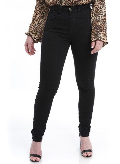 212935 Calça Jeans Skinny Feminina Preto (Frente2)