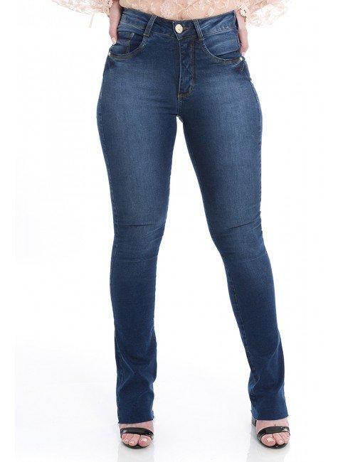 112911  Calça Jeans Feminina Boot Cut (Frente1)