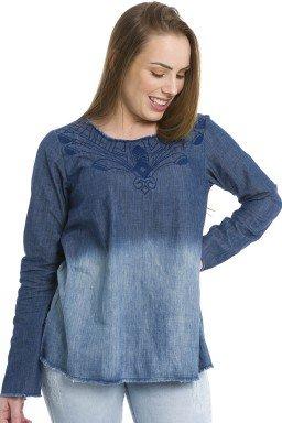 812703  Blusa Jeans Feminina (Frente1)