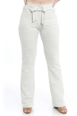 44712914 Calça Flare Tweed Chanel Off White (Frente)