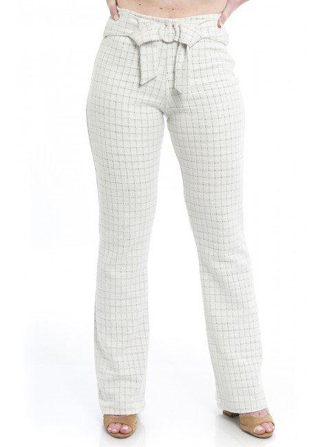 44712914 Calça Flare Tweed Chanel Off White (Frente)