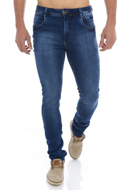122919 Calça Jeans Skinny Masculina  (Frente)