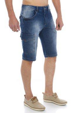 521911 Bermuda Jeans Masculina Cargo  (Lateral1)