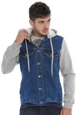922901 Jaqueta Jeans Masculina com Capuz (Frente)