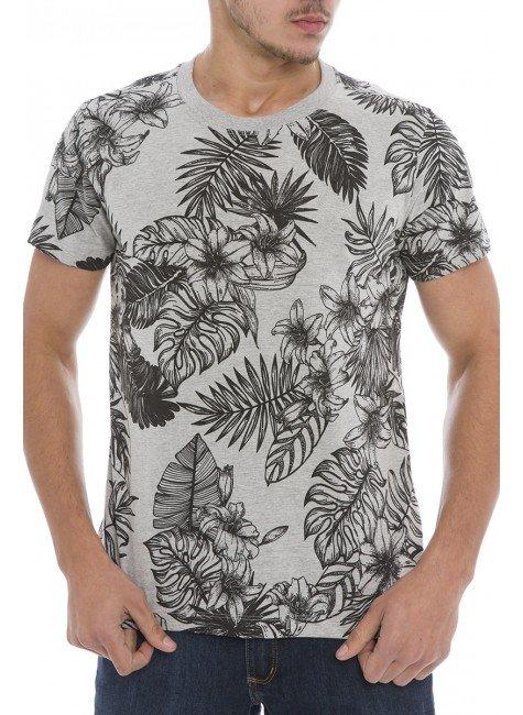 44222000-3 T-shirt Masculina Estampada Mescla (Frente)