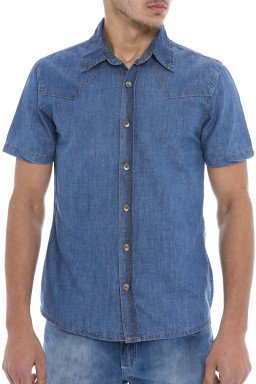 921900 Camisa Jeans Masculina (Frente)