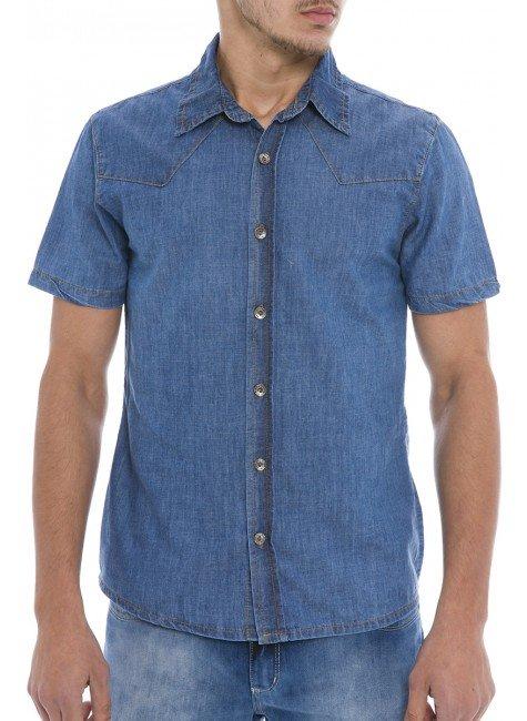 921900 Camisa Jeans Masculina (Frente)