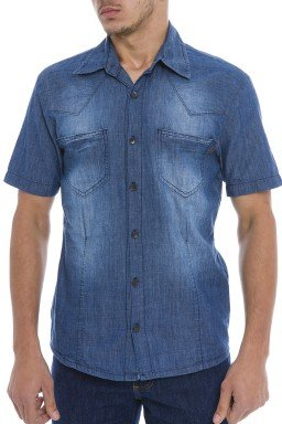 921803 Camisa Jeans Masculina (Frente)