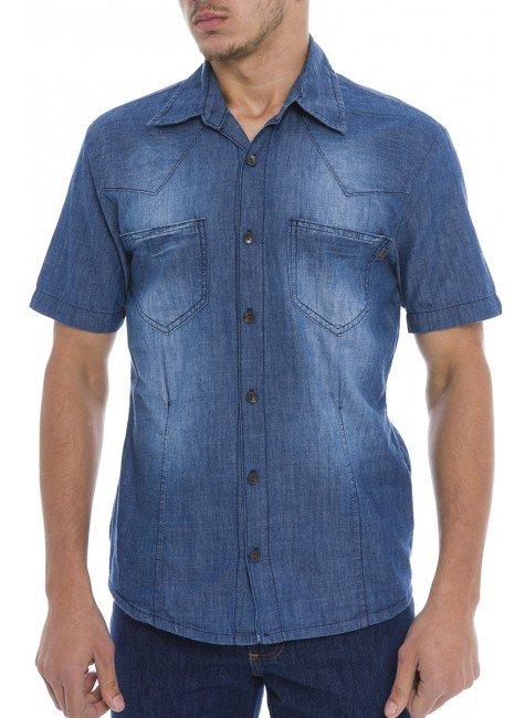 921803 Camisa Jeans Masculina (Frente)
