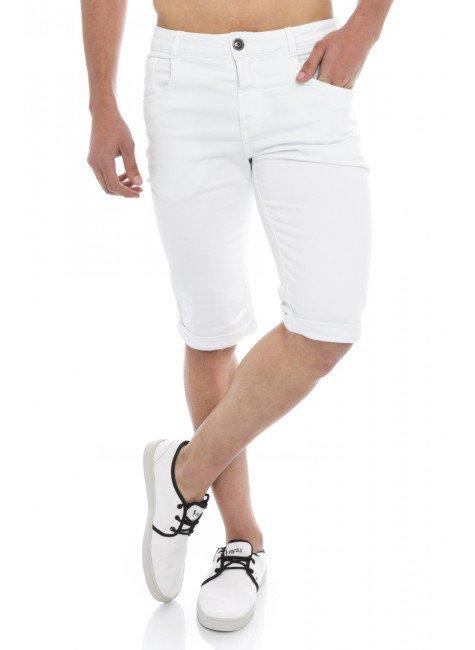 21903  Bermuda Jeans Masculina Slim (Frente)