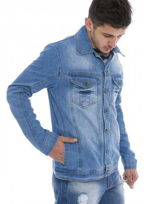 922709 Jaqueta Jeans Masculina (Lateral)