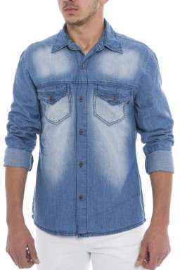 922708 Camisa Jeans Masculina (Frente)