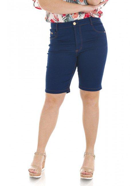 4118AR05 Bermuda Ciclista Jeans Feminina Plus Size  (Frente)