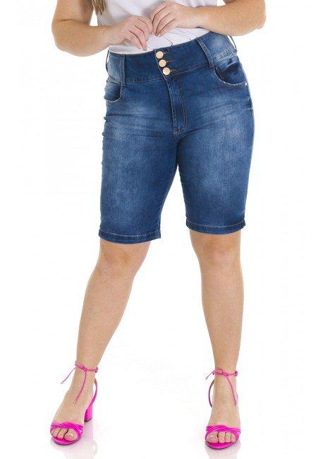 4119AR02 Bermuda Ciclista Jeans Feminina Plus Size (Frente)