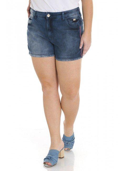 5119AR00 Shorts Jeans Feminina Plus Size (Frente1)