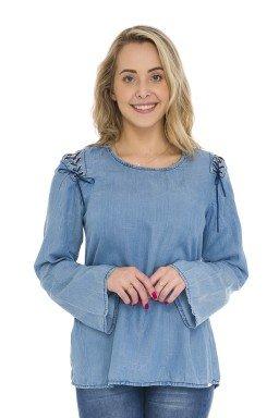 812812 Blusa Jeans Feminina (Frente4)