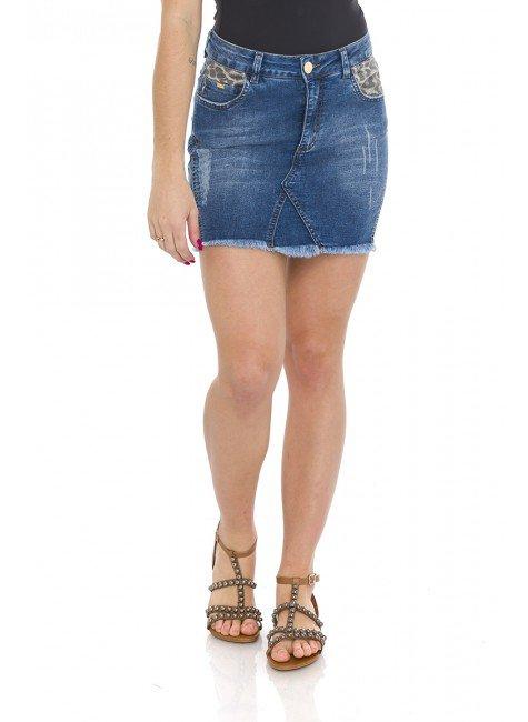 712001 Saia Jeans Animal Print (Frente)