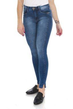 212017 Calça Jeans Feminina Skinny com Recortes Laterais (Frente)