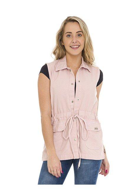 812813010 Colete Jeans com Cadarço Rose (frente 01)