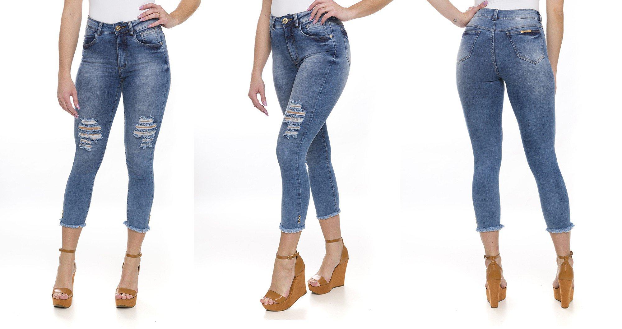 311900 Calça Jeans Cropped Destroyed (montagem)