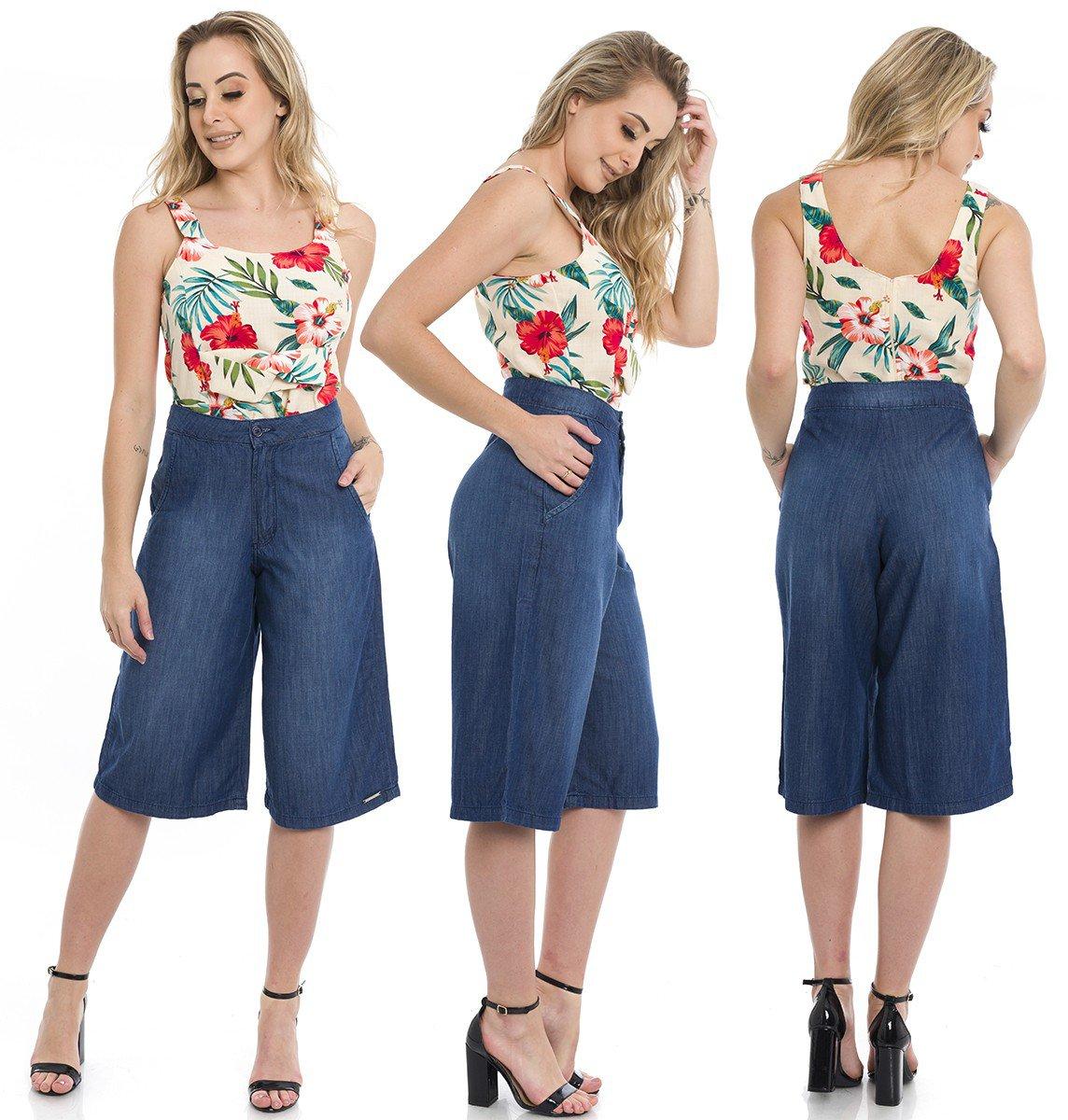 311804  Pantacourt Jeans (Completa)