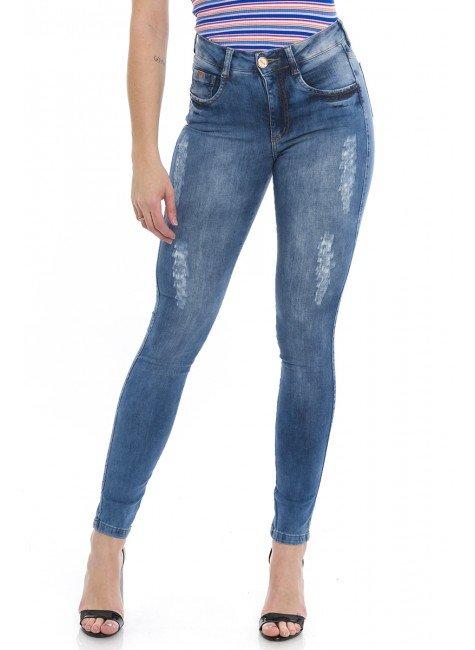 1212000  Calça Jeans Skinny Feminina Fancy (Frente)