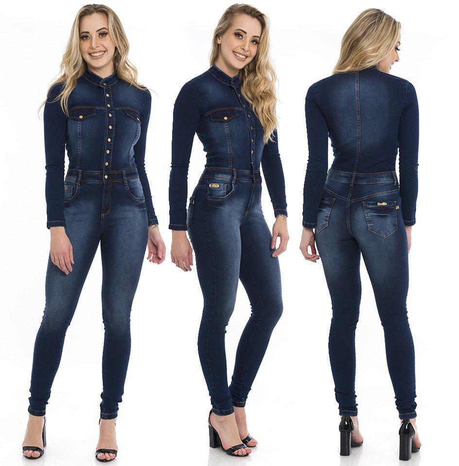 712700  Macacão Jeans Skinny Feminino (Completa)
