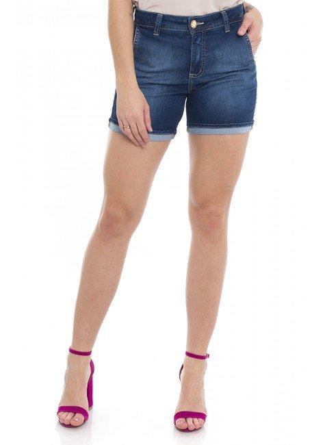 1512002 Bermuda Meia Coxa Jeans Barra Italiana (Frente)