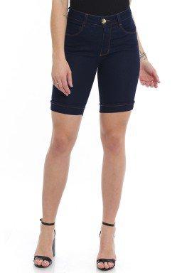 412000  Bermuda Ciclista Jeans Feminina (Frente)