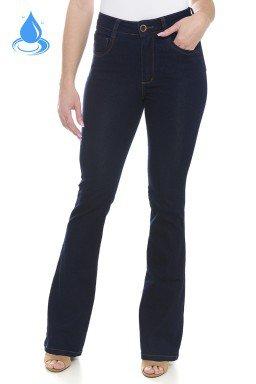 112907 Calça Jeans Feminina Flare Escura (Frente)