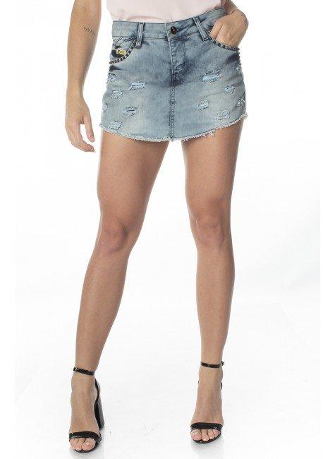 611613.003 Shorts Saia Jeans Destroyed  (Frente1)