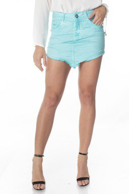 711502.016 Mini Saia Jeans Azul (Frente)
