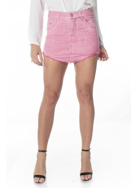 711502.010 Mini Saia Jeans Rose (Frente)