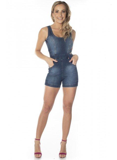 711702  Macaquinho Jeans (Frente)